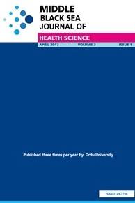 Middle Black Sea Journal of Health Science