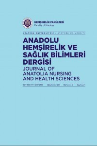 Journal of Anatolia Nursing and Health Sciences